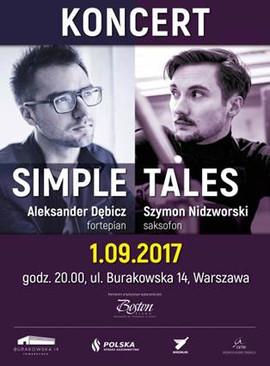 plakat koncertu Simple Tales