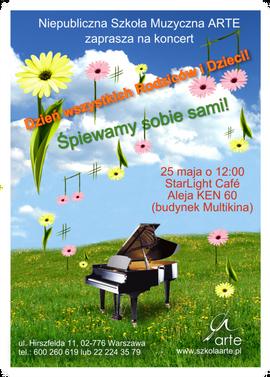 plakat koncertu Szkoły Arte