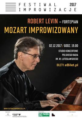 plakat recitalu R. Levina - Festiwal Improwizacje