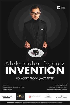 plakat koncertu promującego płytę INVENTION Aleksandra Dębicza