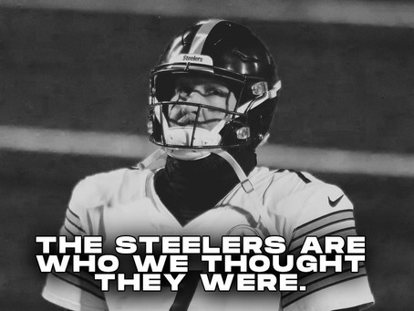 We knew the Steelers were overrated, and now they're proving it to us week by week.