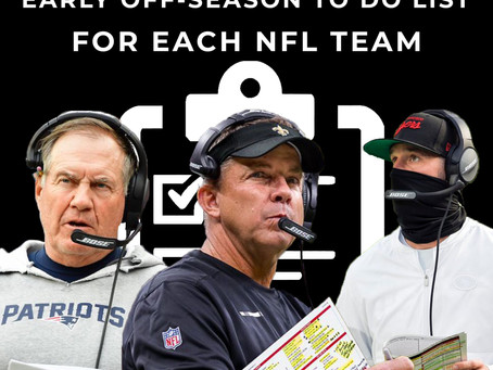 Early offseason to-do list for all 32 NFL teams