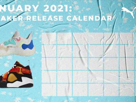 January 2021: Sneaker Release Calendar