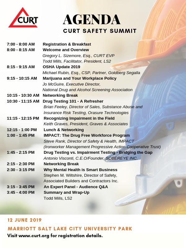 CURT 2019 safety summit agenda