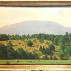 "Mountain View, Prattsville 22 x 34"", oil on canvas"