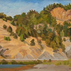 Hills of Ben Bow lake, CA, 1985Oil, 12%22 x 16%22