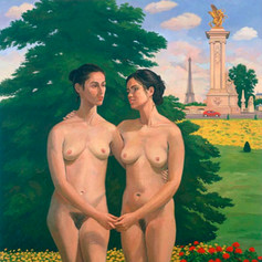Vincent Arcilesi_Two Women at Pont Alexandre.jpg