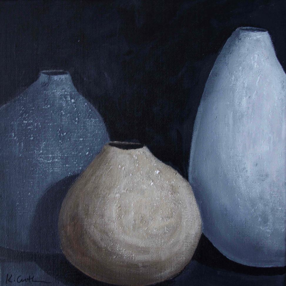 Three Clay Vessels