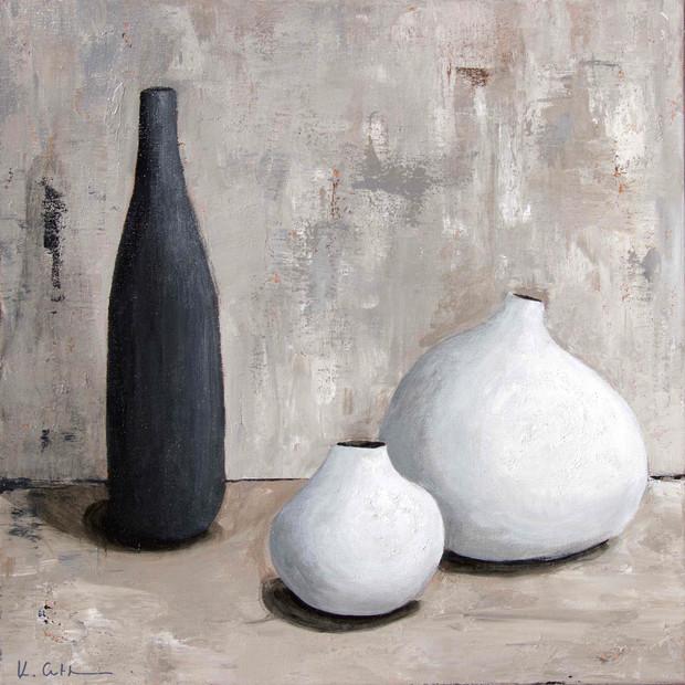 White Pots Black Bottle (sold)