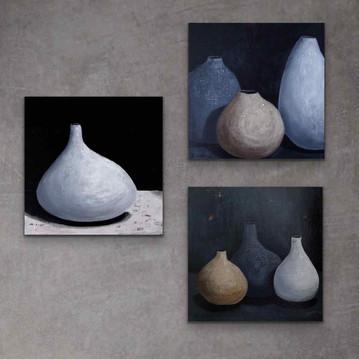 White Clay, Three Clay Vessels, Three Clay Pots