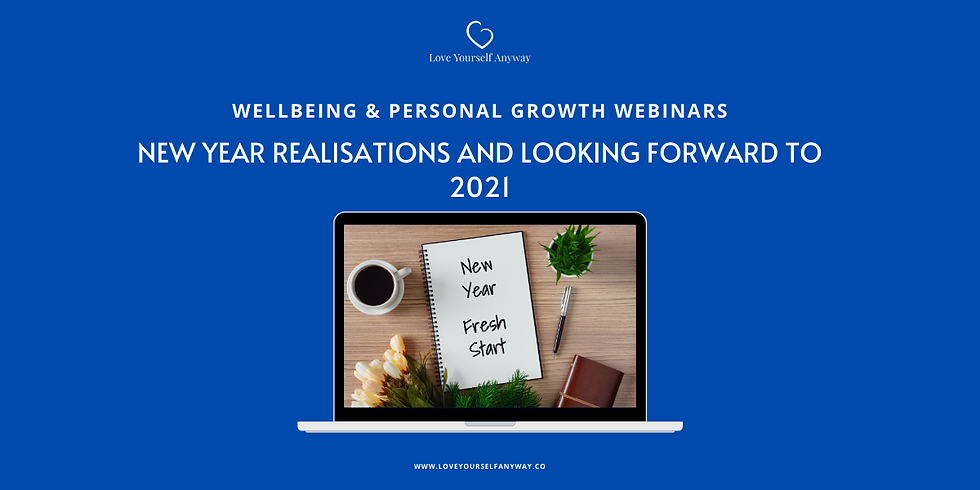 New Year Realisations & Looking forward to 2021 New Years DAY Workshop