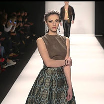 A shot from the runway of the makeup I d