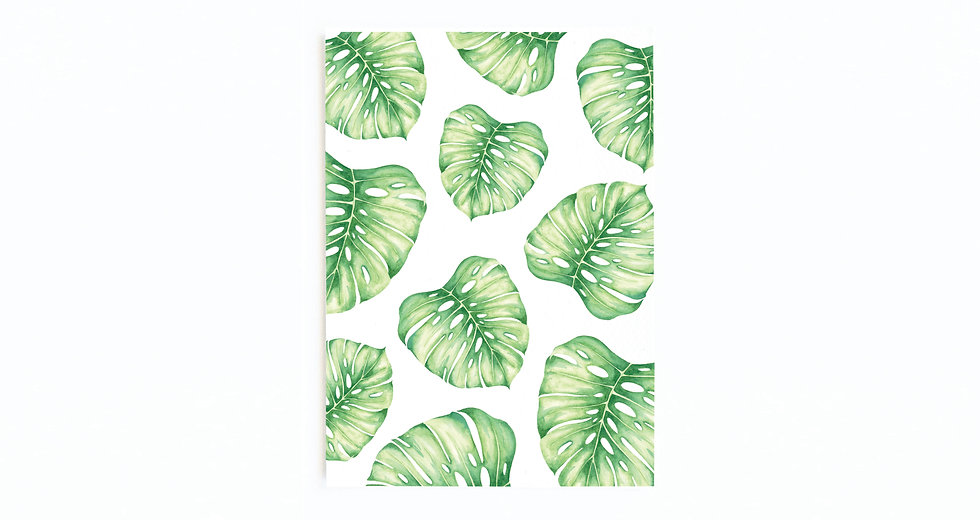 MONSTERA COLLAGE CARD
