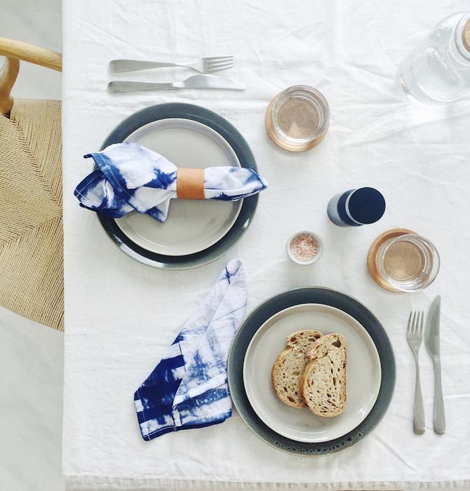 Entertain in style! DIY shibori napkins