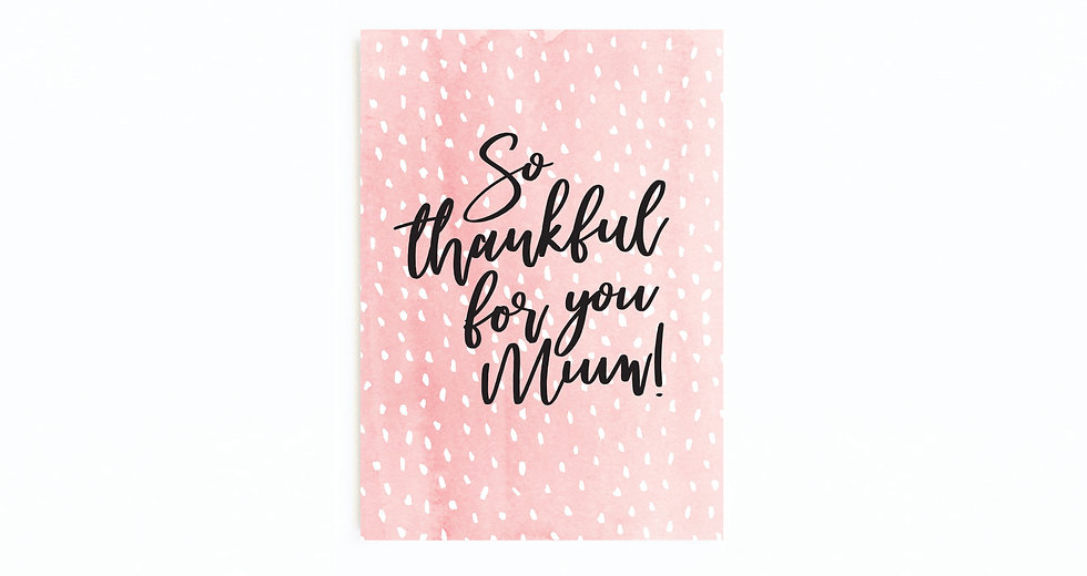PINK DOTTY THANKFUL FOR YOU CARD