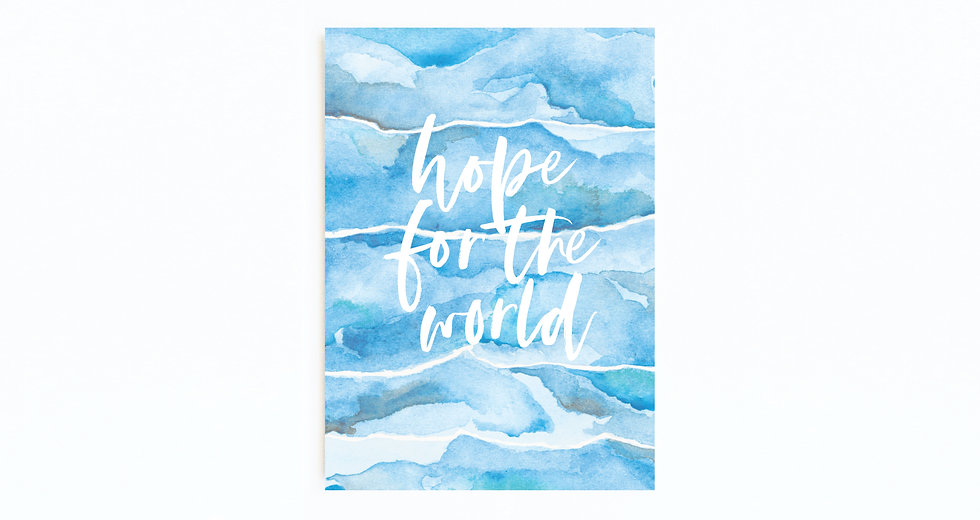 HOPE FOR THE WORLD BLUE