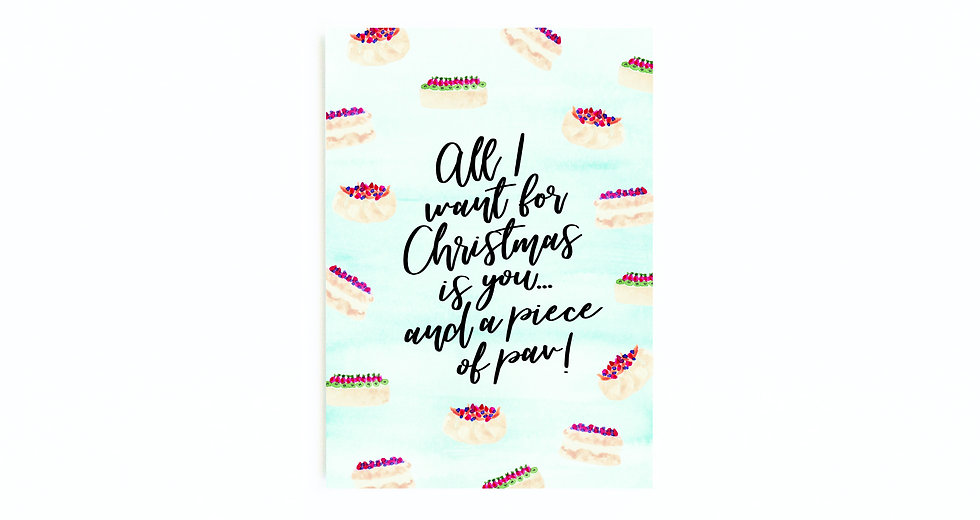 ALL I WANT CARD