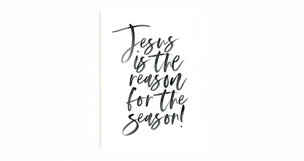 JESUS IS THE REASON CARD