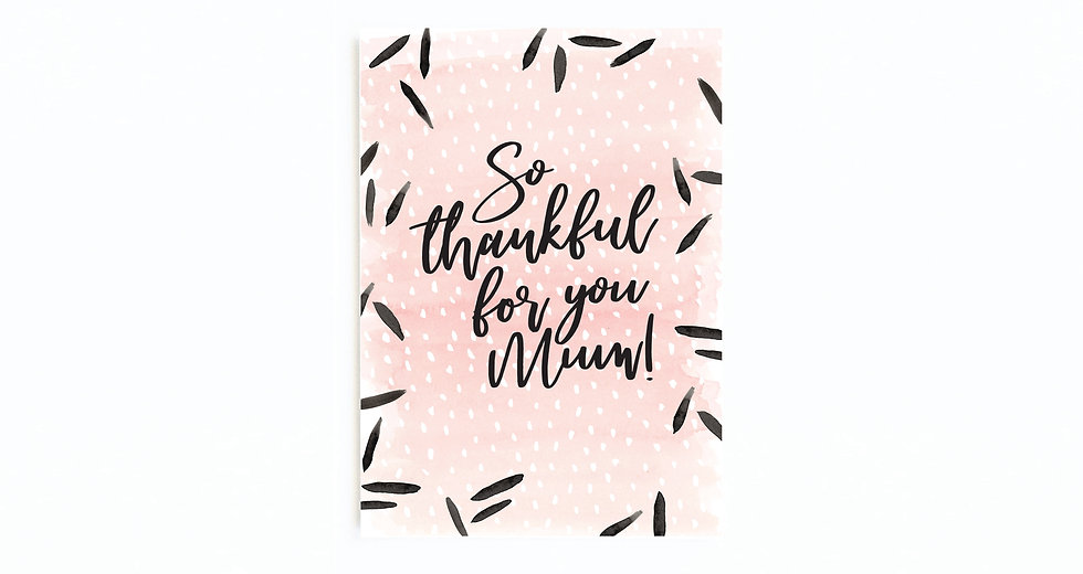 PINK THANKFUL FOR YOU CARD
