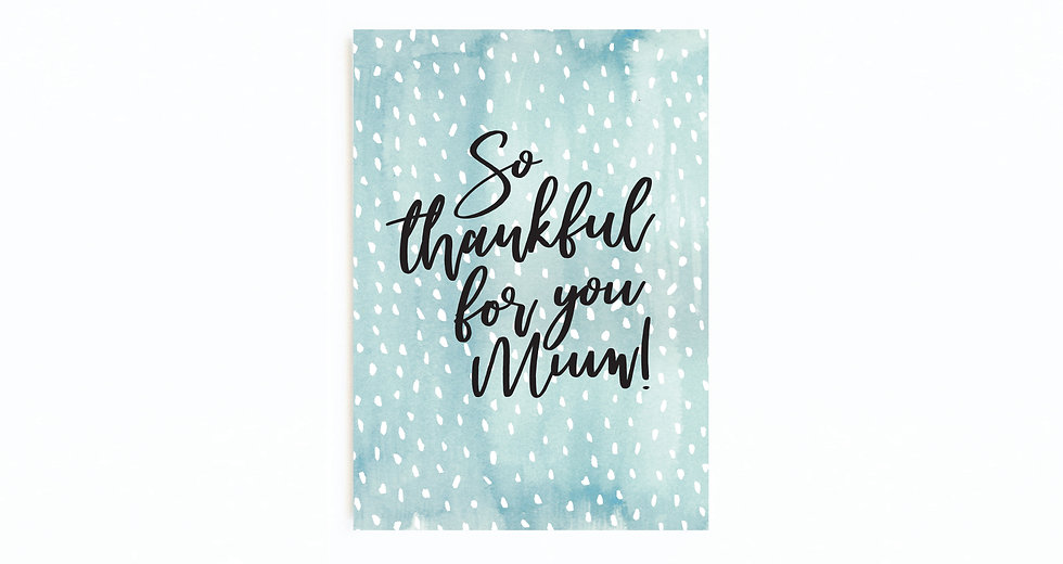 BLUE DOTTY THANKFUL FOR YOU CARD