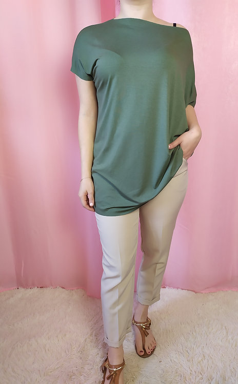 Blusa comfy-chic verde militare