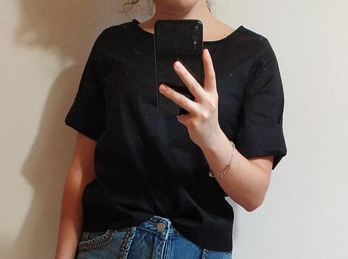 Blusa con bottoncini in cotone