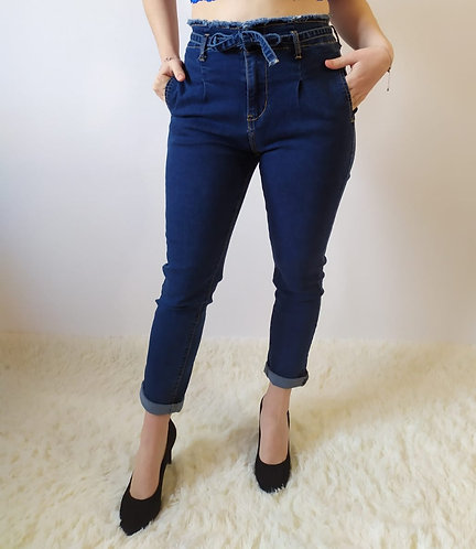 Jeans Skinny push-Up con fiocco