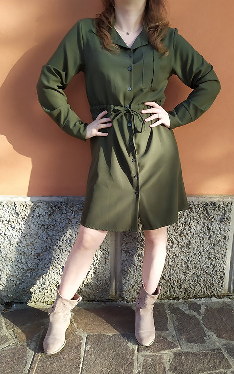 Abito chemisier Casual Military verde
