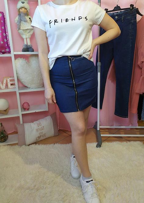 Minigonna in Jeans con zip