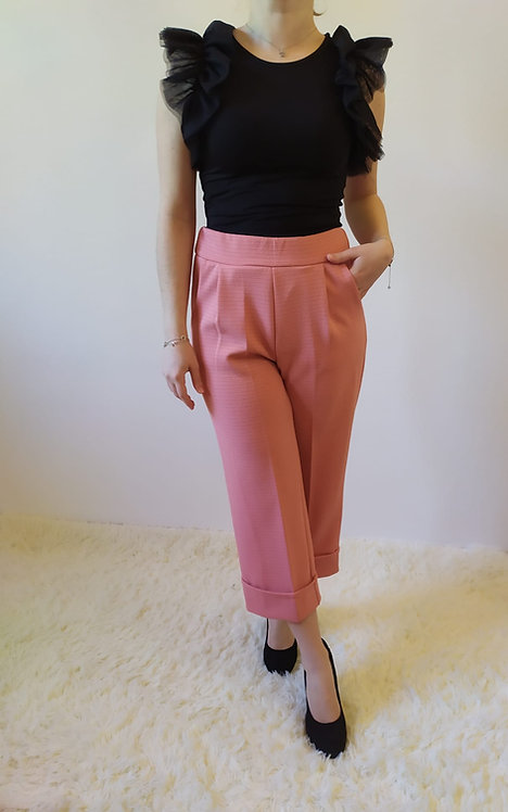 Pantalone morbido primavera rosa