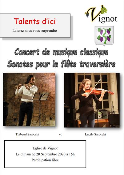 Affiche concert Thibaud et Lucile Sarocchi