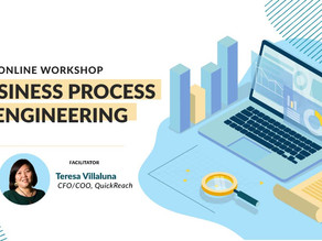 Free Business Process Reengineering Online Workshops scheduled on March 26-27, April 3, & 17