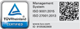 Certifications   Quality Management Systems (QMS) ISO 9001:2015   nformation Security Management Systems (ISMS) ISO/IEC 27001:2013 for Outsourced Product Development, Research and Development, and Software Quality Testing