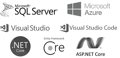 Microsoft | Microsoft SQL Server | Microsoft Azure | Visual Studio | Visual Studio Code | .NET Core | Entity Framework Core | ASP.NET Core