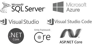 Microsoft | Microsoft SQL Server | Microsoft Azure | Visual Studio | Visual Studio Code | .NET Core | Entity Framework Core | ASP.NET Core
