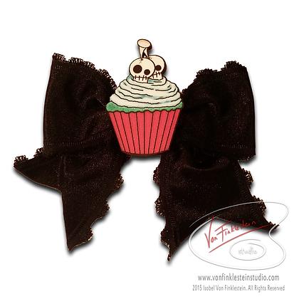 Cupcake Bow Black