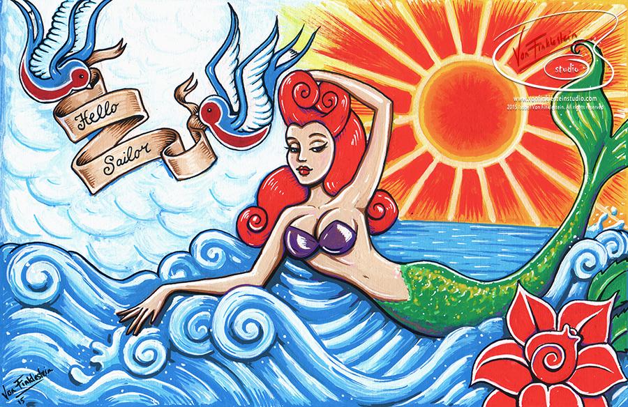 HelloSailor mermaid pinup girl tattoo vonfinkketeinstudio.png