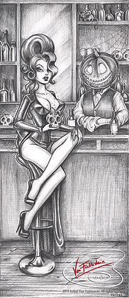 Halloween Happy Hour A3 art print