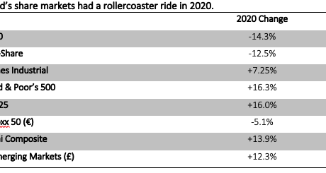 The 2020 investment year – a ride to remember