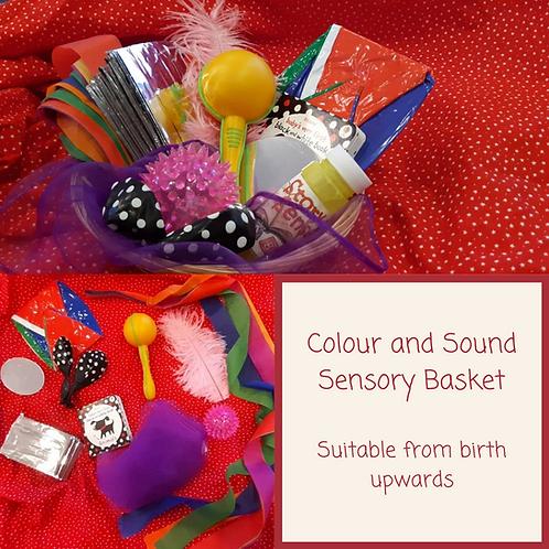 Colour and Sound Sensory Basket