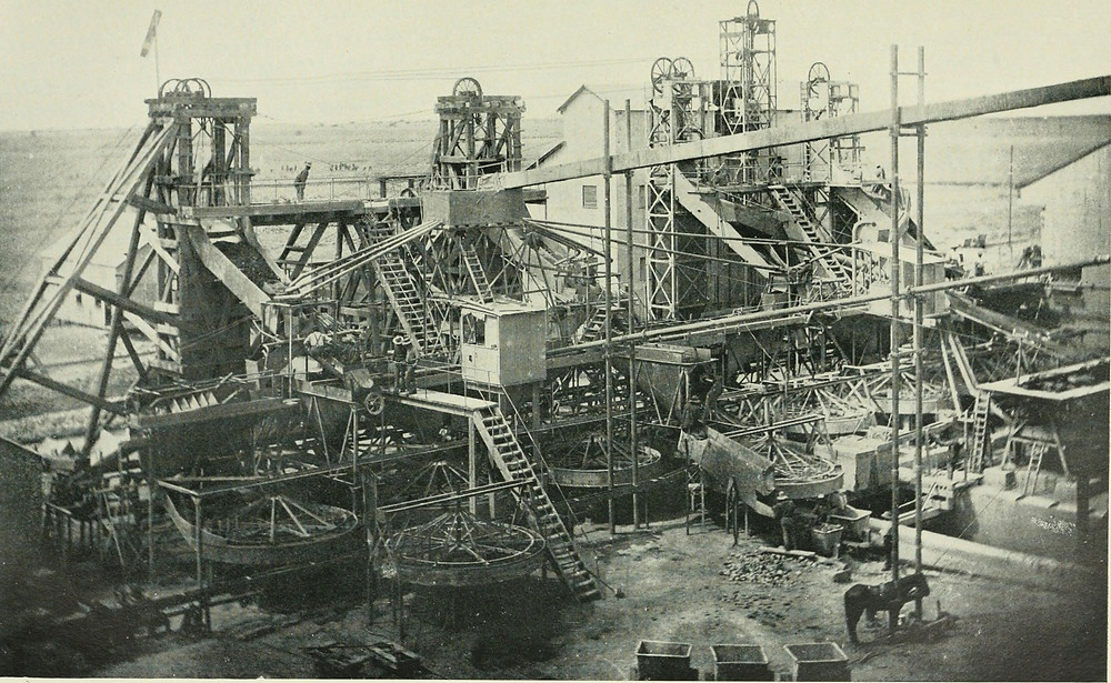 South African mine, 1903