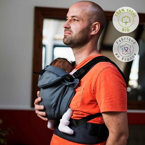 porte-bébé physiologique portage echarpe neo neobulle gris galet