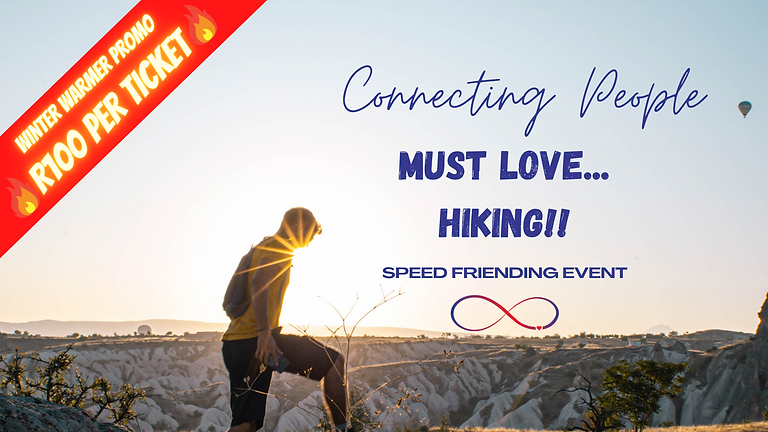 Must Love... HIKING 😁 JHB, SPEED FRIENDING Age 25+