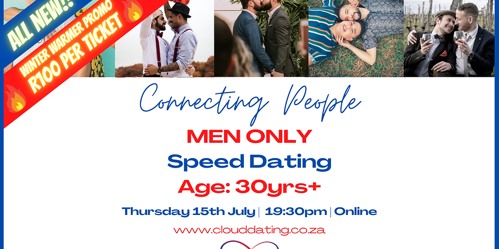 Men Only Speed Dating Age 30+