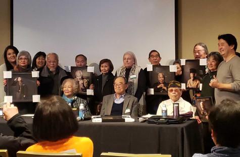 Nisei Veterans and Family Members with Shane Sato and Robert Horsting