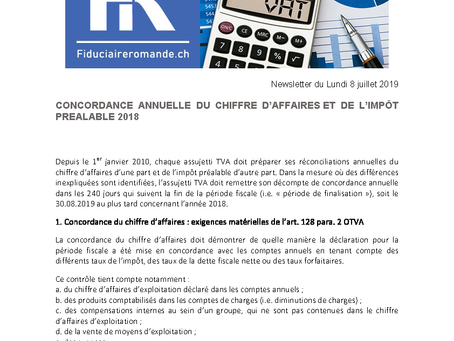 Concordances annuelles TVA FY2018