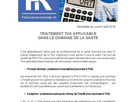 Traitement TVA applicable dans le domaine de la santé