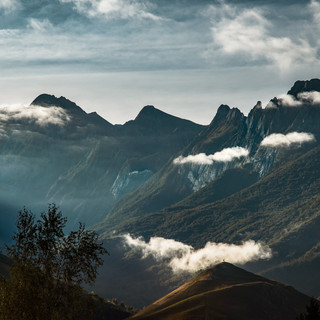 Peaks and clouds