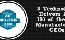 Infographic: 3 Key Technology Drivers for 100 Top Manufacturing CEOs