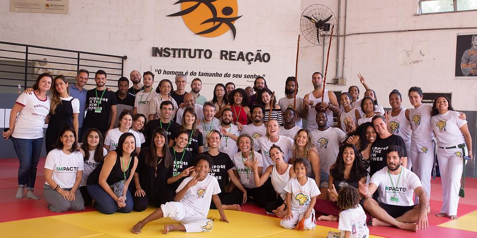 Visita ao hub IMPACTO na Rocinha
